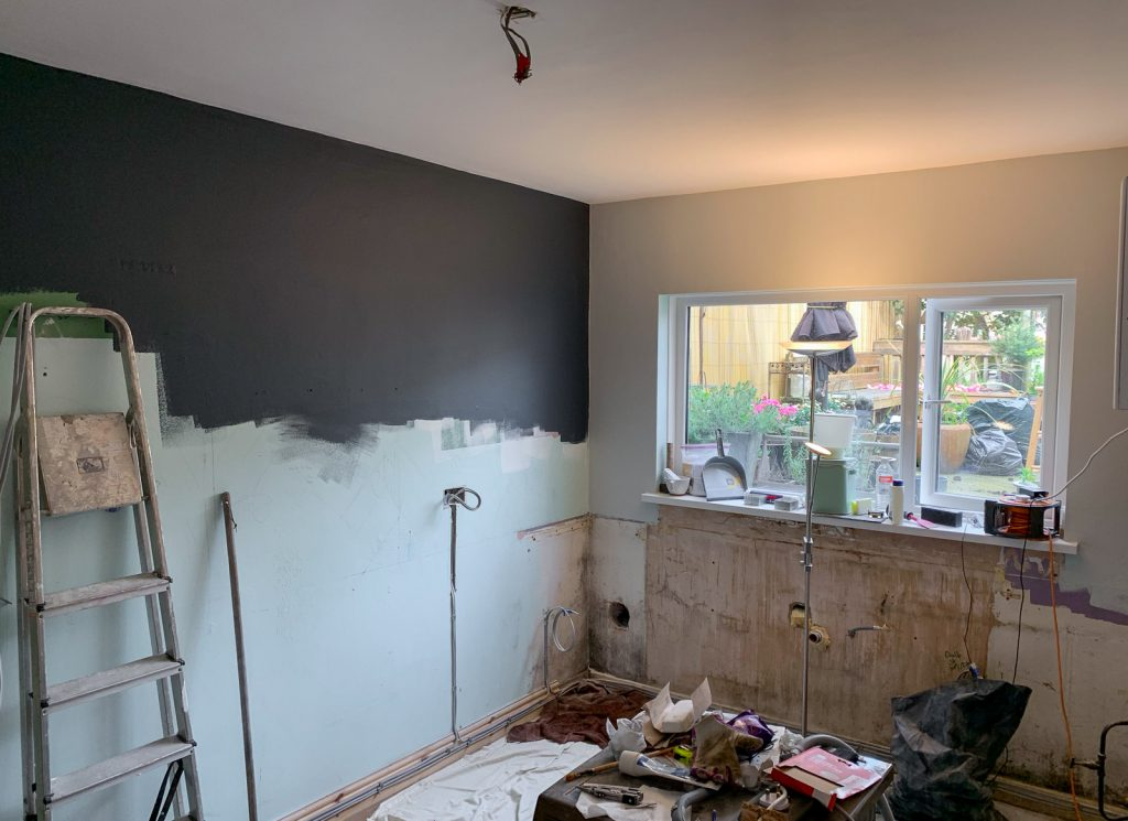 kitchen renovation in a terraced house