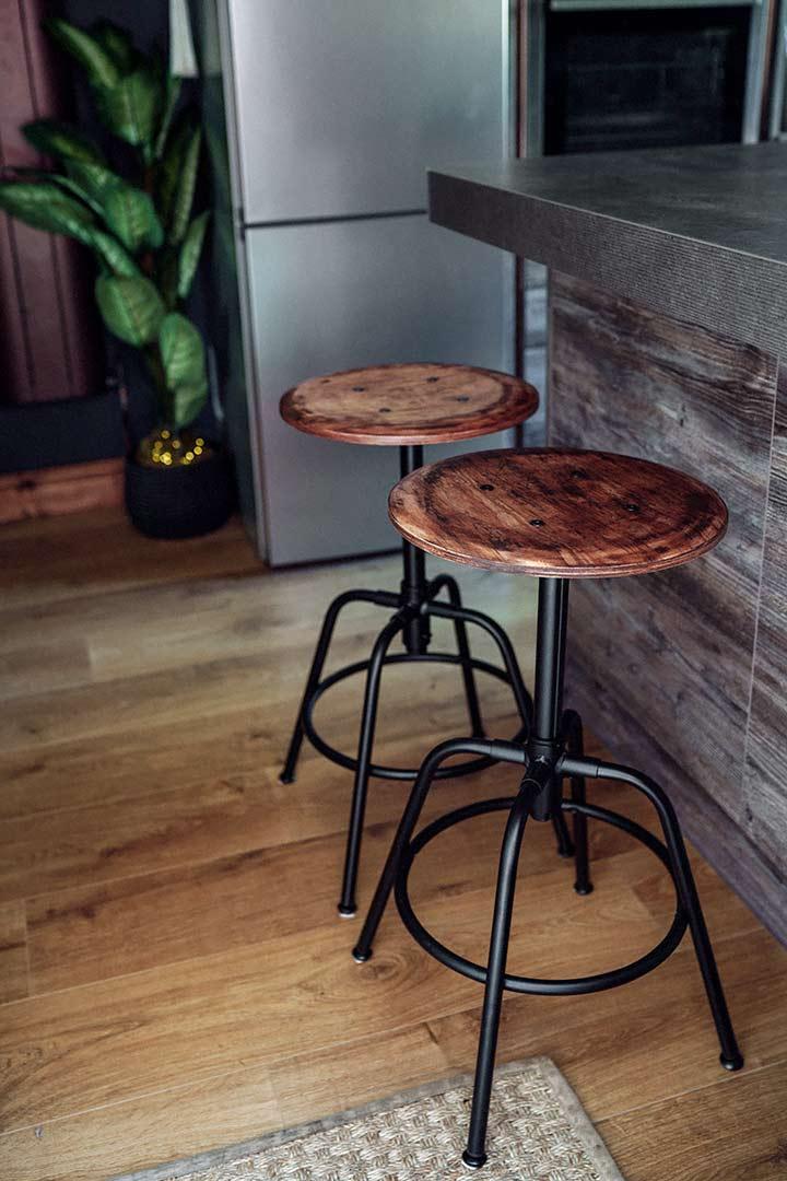 Ikea Kullaberg industrial stool hack