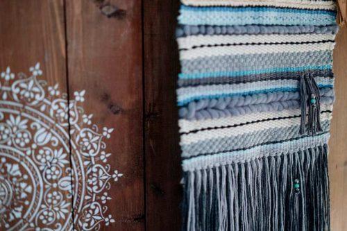loom weaving wall hanging