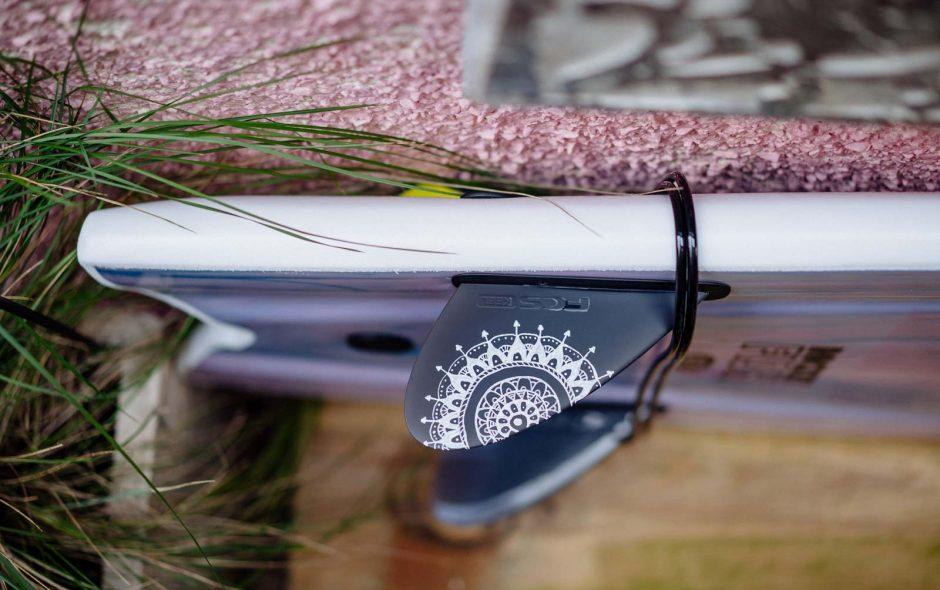 surfboard fcs keel fin mandala painting