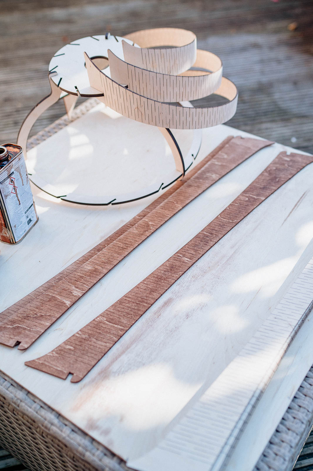 plywood lampshade design