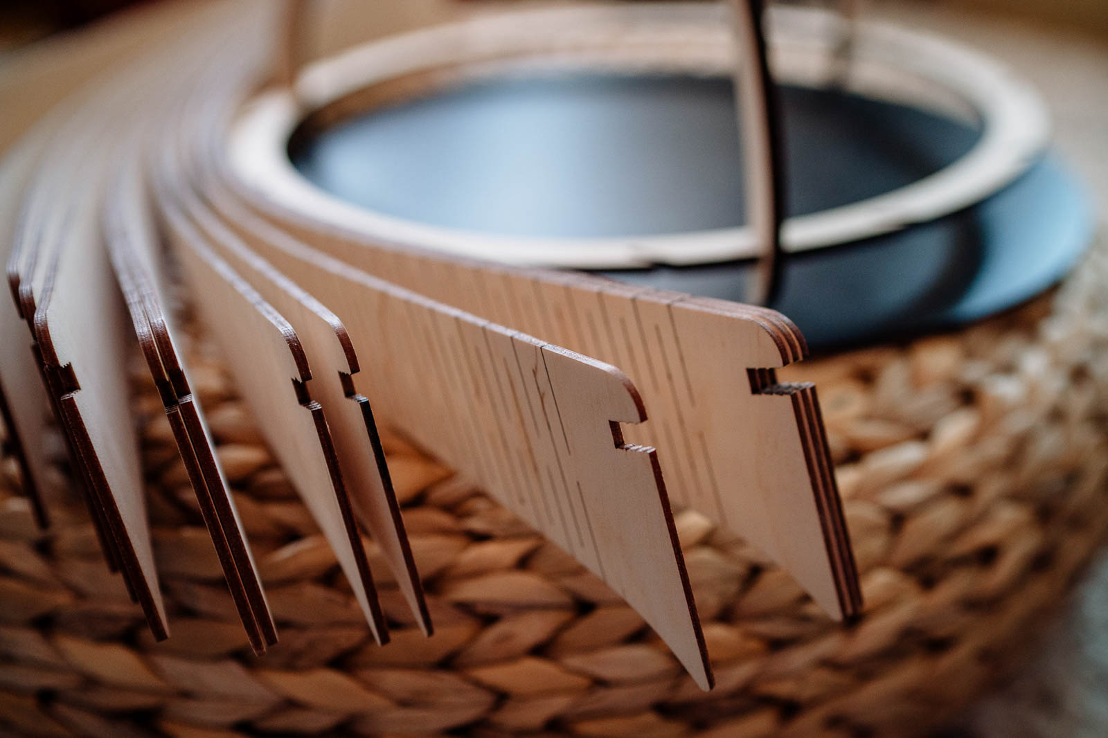 plywood lampshade kit building
