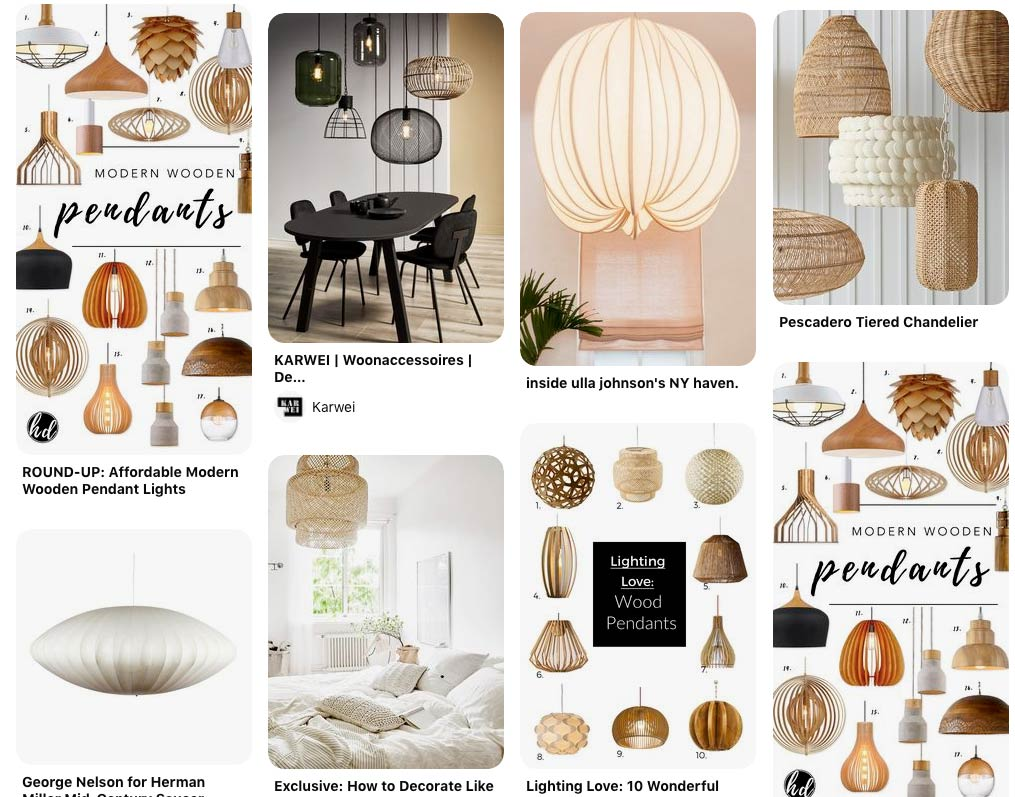 lampshade inspiration from Pinterest
