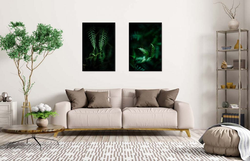 printed wall art - wild ferns