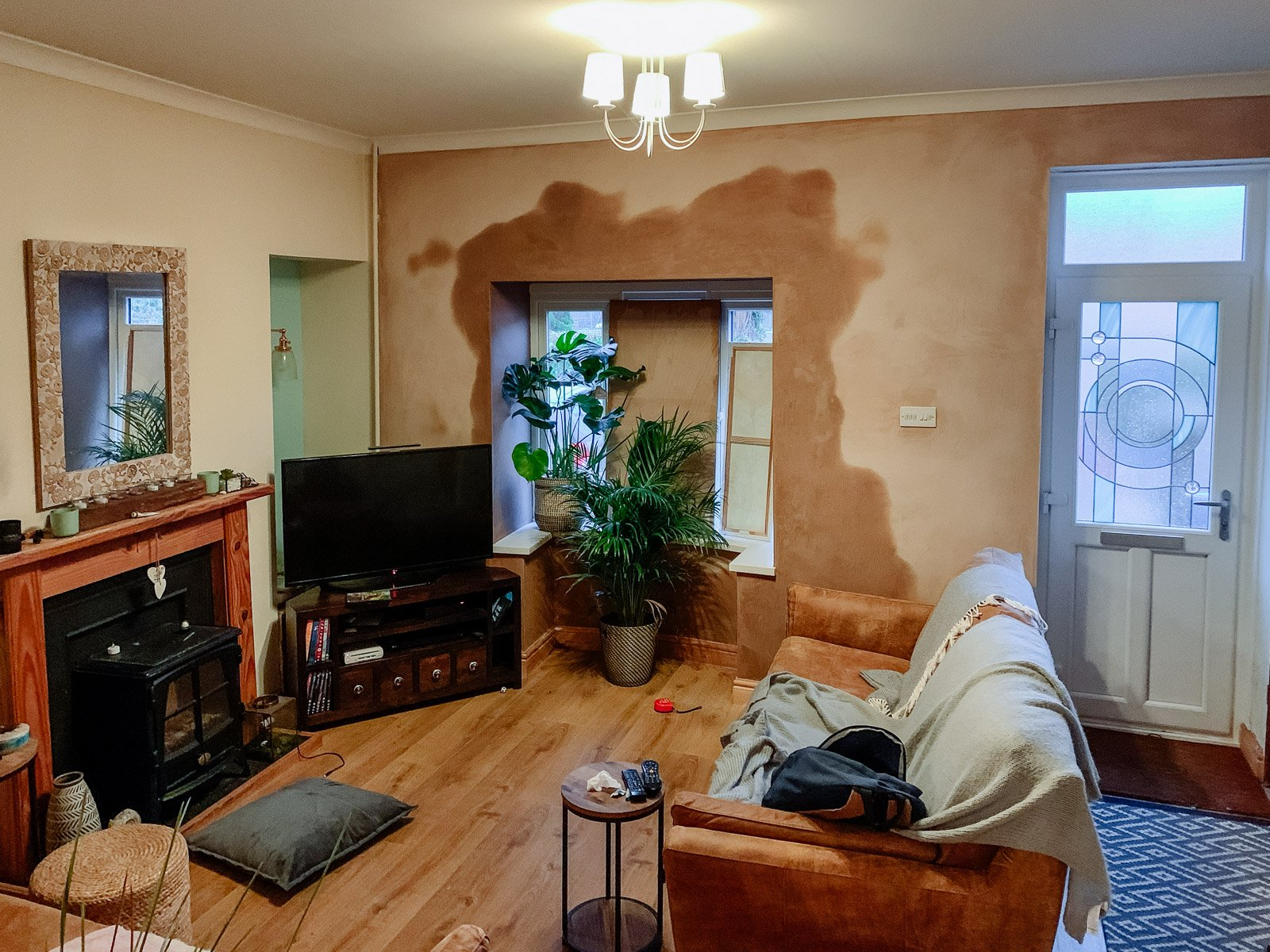 living room makeover DIY project before