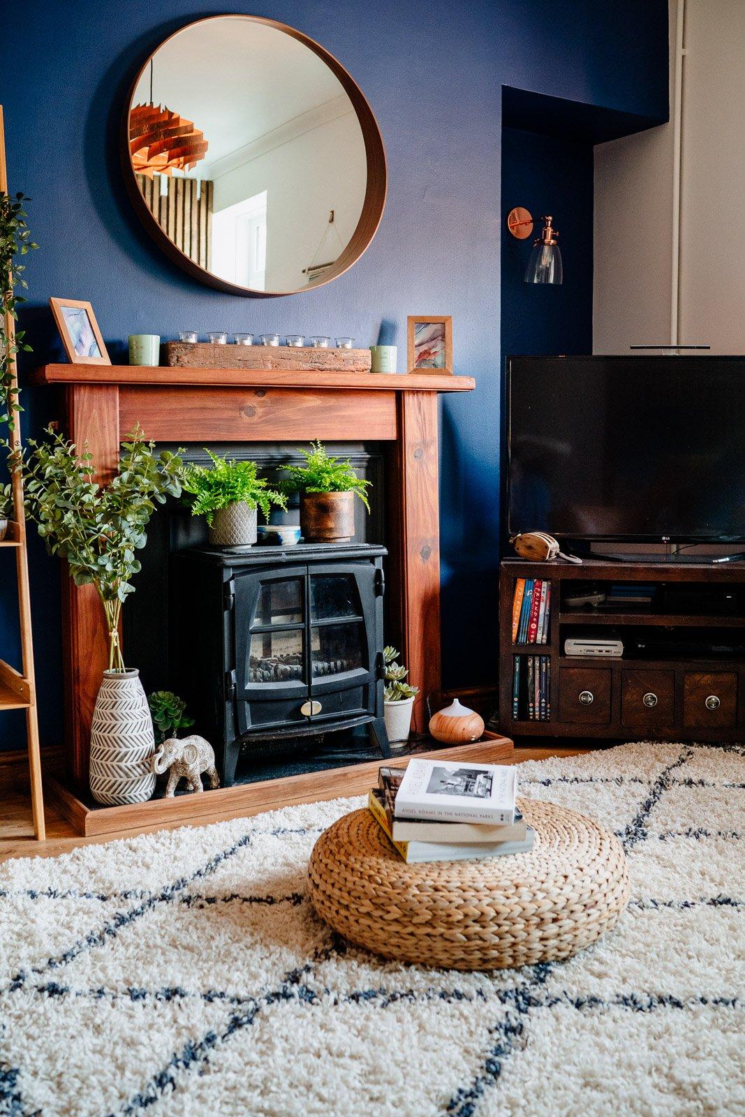 living room makeover DIY project after